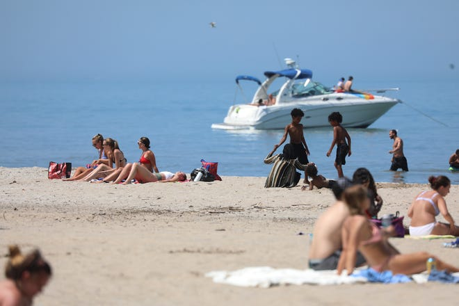 The mercury hit 93 degrees in Rochester late Tuesday afternoon.