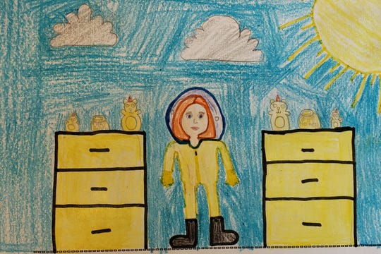 Colfax resident, Lily, 10, was the winner of the ages 10 to 12 division of the National Ag Day drawing contest.