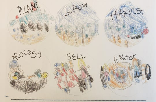 Six-year-old Brooklyn of Balsam Lake was the winner of the age 6 and under category of the National Ag Day drawing contest.