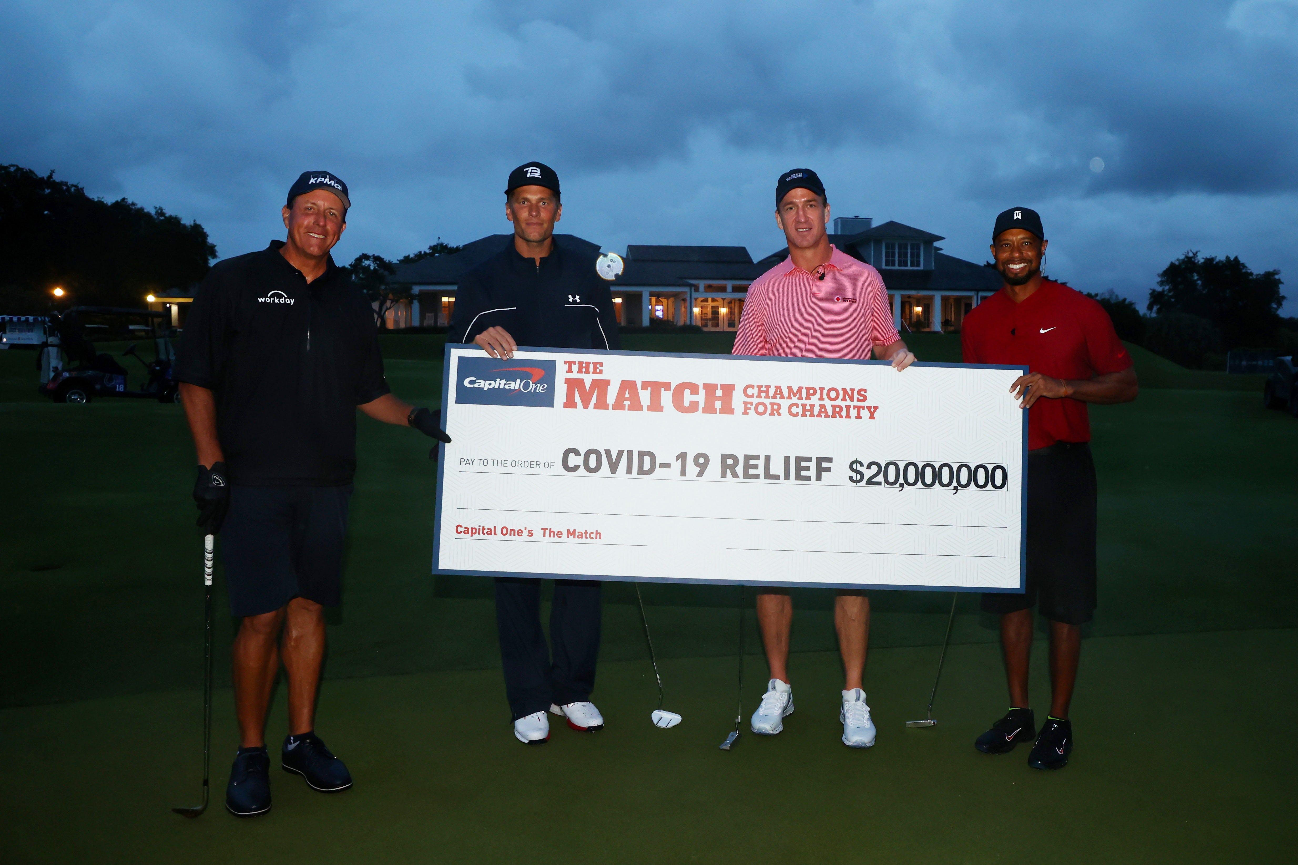 Tiger, Phil, Brady, Manning 'Match' sets viewership record