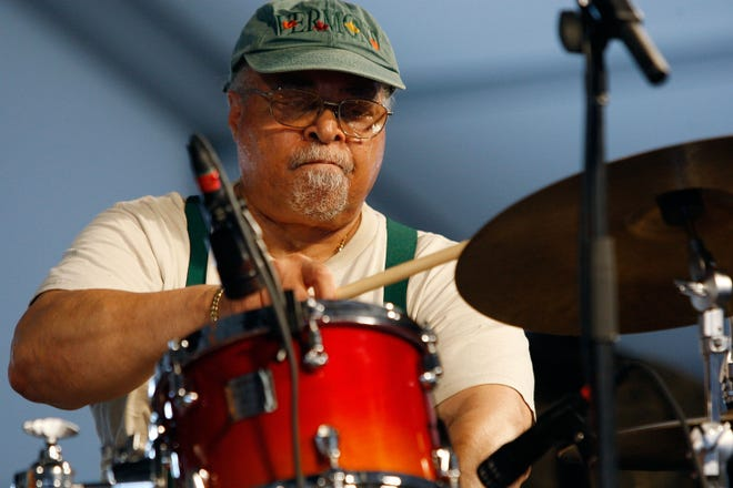 Jimmy Cobb performs in the 2009 New Orleans Jazz & Heritage Festival at the Fair Grounds Race Course.