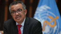 World Health Organization Director-General Tedros Adhanom Ghebreyesus attends the 147th session of the WHO Executive Board, May 22, 2020