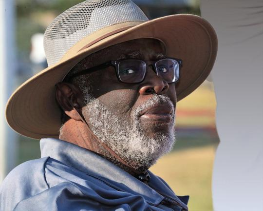 Longtime Woodsboro track coach Aaron Houston died last week and his life was celebrated at a memorial service at Woodsboro's high school football stadium on Monday, May 25, 2020.