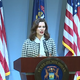 Gov. Gretchen Whitmer appears at a May 26, 2020 press conference.
