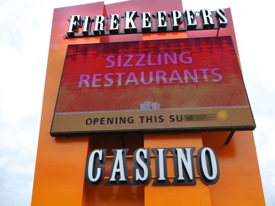FILE - Firekeepers Casino in Battle Creek is one of seven casinos owned by federally recognized tribes that announced plans to reopen before Michigan Gov. Gretchen Whitmer's stay-home order expries.