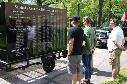Sandusky County military service members took the Sandusky County Killed-in-Action Memorial Float on a parade through Fremont on Memorial Day.