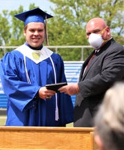 Clyde's Graduation Parade and Ceremony was held on May 24, 2020. Each graduate walked the stage at Bishop Stadium and received their diploma from CHS Principal Joe Webb.