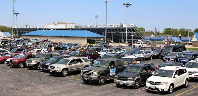 Clyde's Graduation Parade and Ceremony was held on May 24, 2020. Decorated cars, SUVs, and pickups filled the CHS parking lot.