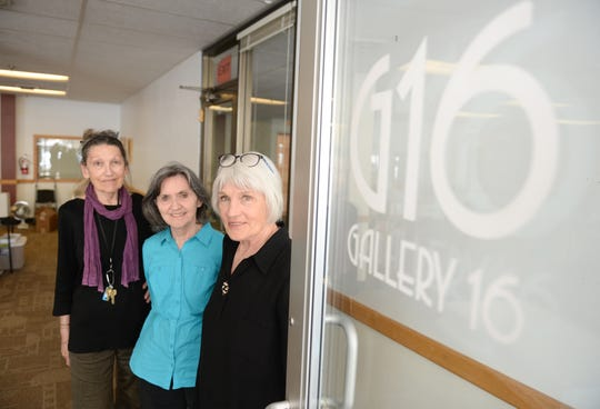 Members of Gallery 16 from left: Monica Bauer, Marcia Hocevar, and Judy Ericksen are bidding farewell to the gallery as it closes its doors after 50 years in the Great Falls community.