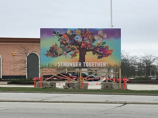 Mayfair Mall displayed a mural by students at  Doerfler Elementary School on the corner of Highway 100 and North Ave. since the artwork wouldn't be seen in the school's closed hallways.