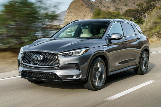 Tuned for premium gasoline, the Infiniti QX50's engine makes 268 horsepower and 280 pound-feet of torque