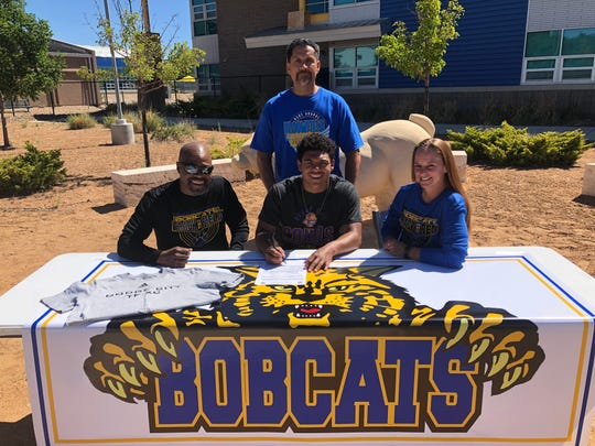 Bloomfield's Kenyon Mosley will continue his track and field career at Dodge City Community College in Dodge City, Kansas.