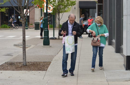 Ted and Barbara Ulker of Novi visited Birmingham for some shopping on Saturday, May 23, 2020.