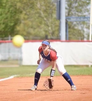 Kennedy Coleman prepares to field a ground ball earlier this season.