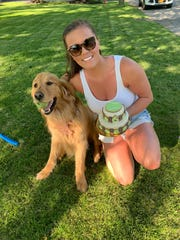 Erin Molloy and Finley at his celebration on Sunday, May 24, 2020.