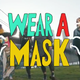 This ad won a  contest in New York to encourage people to wear masks in public during the coronavirus pandemic.