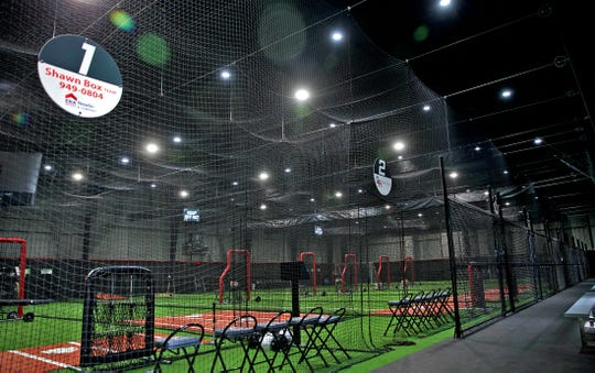 The batting cage facility at the new Sports Next Level complex is seen in this Tuesday, May 26, 2020 photo.