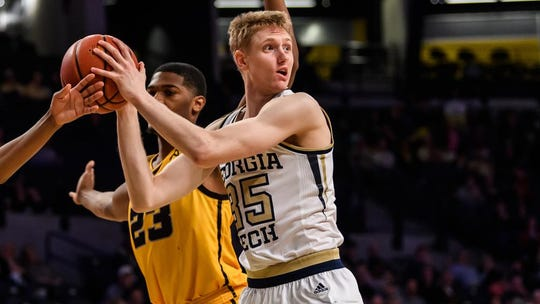 Kristian Sjolund, a 6-foot-8 sophomore transfer, is coming to the Miners from Georgia Tech