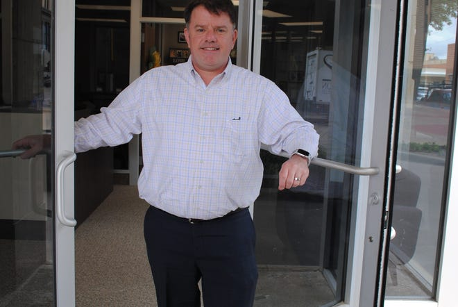 Wichita Falls Chamber of Commerce CEO/President Henry Florsheim is seen Tuesday at the chamber office as they reopened for the first time since the COVID shutdown.