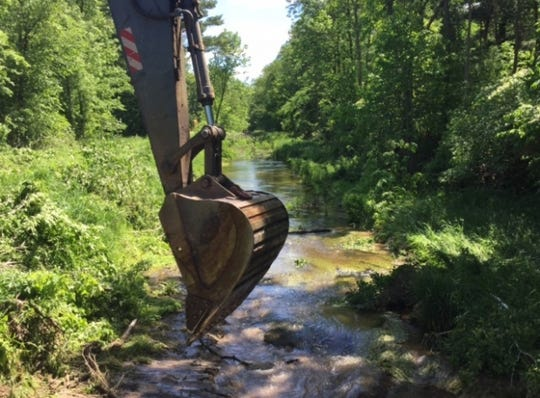 On Wednesday, the Portage County Drainage District dredged Isherwood Lateral.
