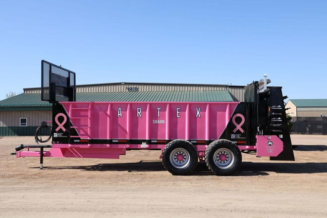 In collaboration with National Breast Cancer Foundation, Farmers Union is excited to announce our Spreading Awareness Campaign. Farmers Union will be proudly displaying a pink manure spreader at various events and the local state conventions, along with some of our top Artex dealerships around the Midwest. Stay tuned on our Facebook and Instagram page to follow along on its Breast Cancer Awareness journey as we work with NBCF to inspire hope for those facing breast cancer.