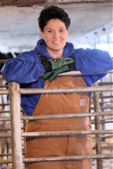 Pam Selz-Pralle and Scott Pralle own  Selz-Pralle Dairy, at Humbird, She says, life is about normal at their dairy.