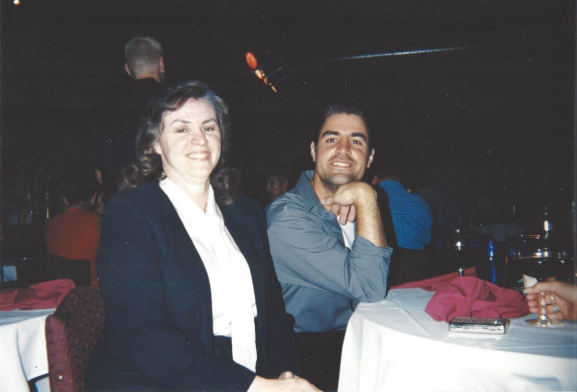 Kevin Boehm with his mother, Dee Boehm.