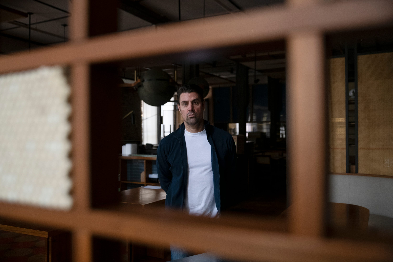 Restaurateur Kevin Boehm inside Momotaro in Chicago.