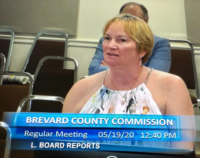Brevard County Parks and Recreation Director Mary Ellen Donner discusses the issues related to offering summer camp programs this year, during the May 19 County Commission meeting.