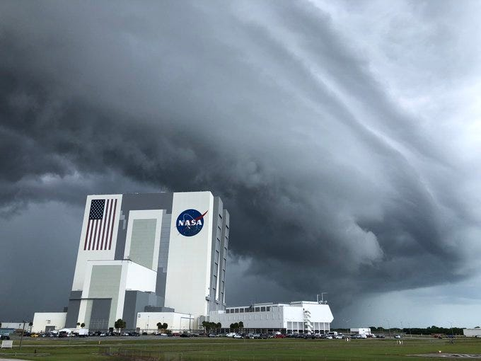 Florida Today of the USA TODAY Network: Bad weather postpones historic NASA launch