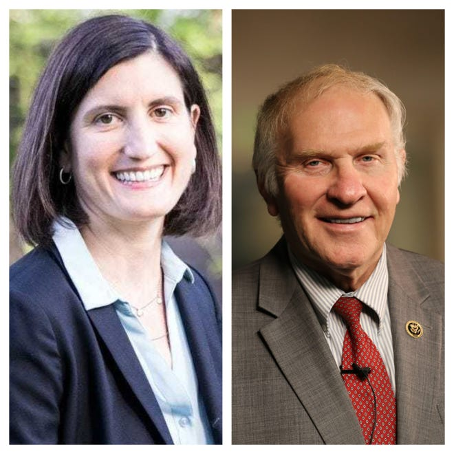 Democrat Kate Schroder(left) is challenging Republican U.S. Rep. Steve Chabot