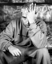 "Eminem in an Interscope Records promotional photo photo for ""The Marshall Mathers LP"" in 2000."
