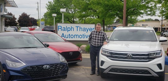 Adam Thayer, co-owner of Ralph Thayer Automotive in Livonia, says having showroom appointments will help car sales rebound.