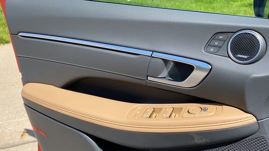 The The 2020 Hyundai Sonata Limited has soft interior materials.