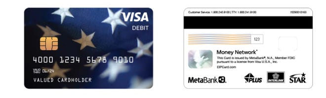 For some Iowans, the second round of stimulus payments may arrive in the form of a Visa Debit card, like the one pictured. Some consumers assumed the cards were a scam and threw them away during the first round of payments last spring.