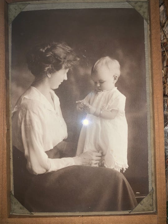 Orel Borgeson is shown as a child with her mother Ora Eklund. Orel lived through the 1918 flu pandemic and turned 103 during the novel coronavirus pandemic.