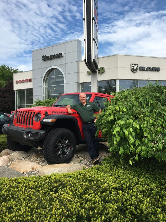 Bob Shuman, owner of Shuman Chrysler Dodge Jeep Ram in Walled Lake, is happy to reopen the showroom after having to close down for 10 days during the coronavirus pandemic.
