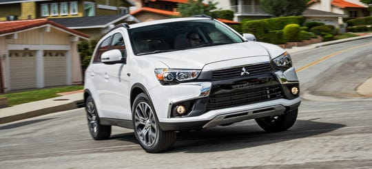 Mitsubishi is recalling nearly 223,000 vehicles in Canada and cold-weather U.S. states including the 2016 Outlander Sport SEL, shown.