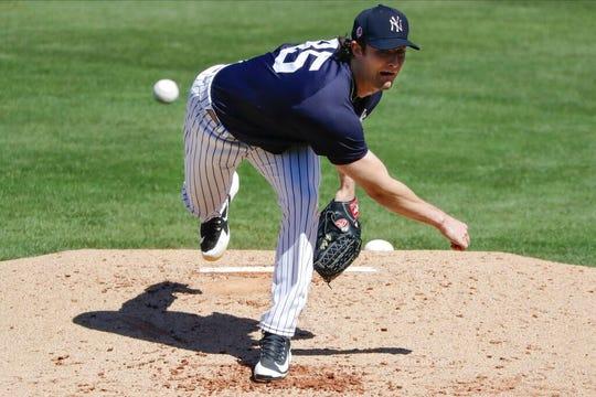 New York Yankees' Gerrit Cole