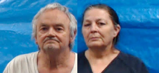 This image provided by the Roane County Jail shows Michael Anthony Gray Sr., left, and Shirley Ann Gray.