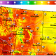 Daytime highs this weekend are forecast to be in the mid-80s to low-90s across the northern Rockies