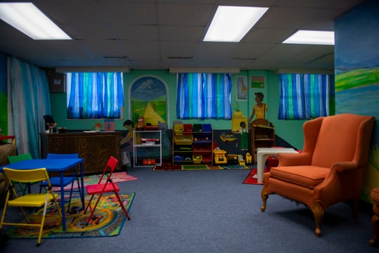 Pictured is a supervised room at Safe Haven in Madison County for children to meet with their families in Jackson, Tenn. Madison County