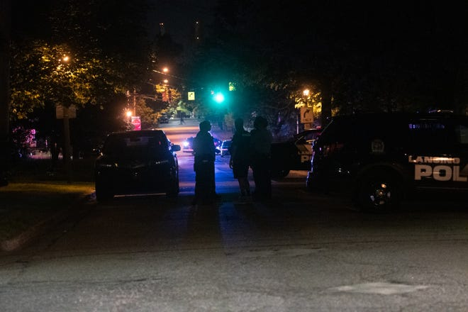 First responders near the scene of a police-involved shooting Tuesday, May 26, 2020. A man was fatally shot after opening fire on police, according to Chief Daryl Green, and an officer was wounded.