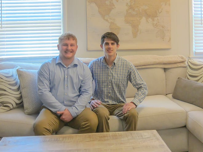 Joseph Parnell, left, and Justin Fava love their new home in the Sea Isle Park neighborhood.
