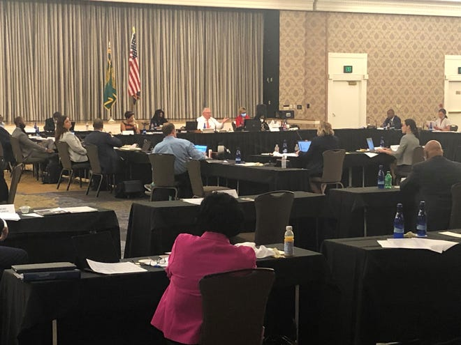 Shelby County Commissioners held a special called meeting to work on the 2021 budget Wednesday at The Peabody Memphis.
