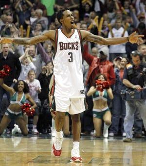 Milwaukee Bucks rookie guard Brandon Jennings scored 55 points against the Golden State Warriors in 2009.