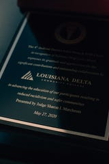 The 4th Judicial District Drug & Alcohol Court honored Louisiana Delta Community College's work in helping court participants pursue their educations.