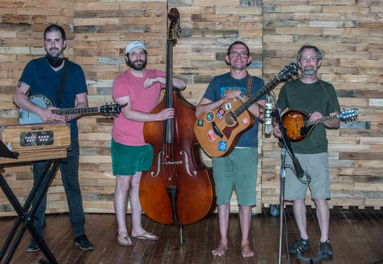 Red Clay and the Barnstormers are, from left, Thomas Bowers, Russel Thomas Bush, Adam Powell and Geoffrey Stockinger.