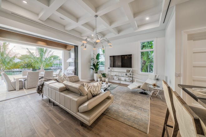 Clive Daniel Home has provided furnishings for this waterfront home at 3330 Rum Row in Port Royal.