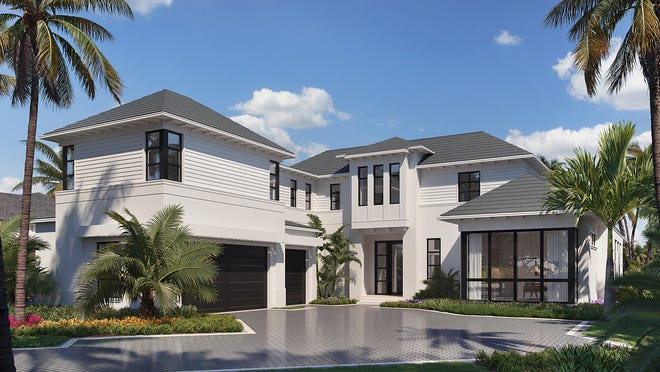 London Bay Homes' newest luxury estate features five bedrooms and extensive water views across Admiralty Bay to Keewaydin Island.